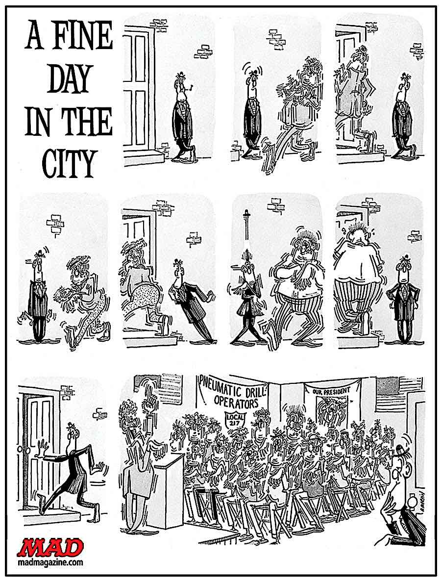 MAD Magazine Don Martin, occupational hazzard cartoon