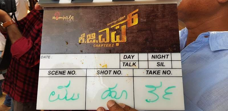 KGF Chapter 2 clapboard at mahurat