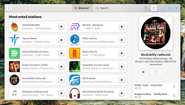 Shortwave Internet radio app for Linux