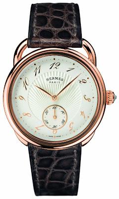 Hermès Arceau 34 mm automatic watch rose gold case