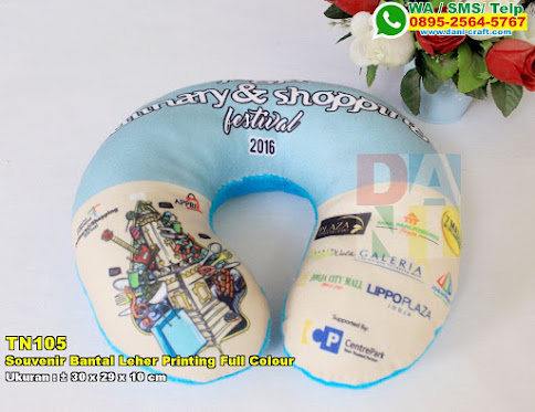 Souvenir Bantal Leher Printing Full Colour