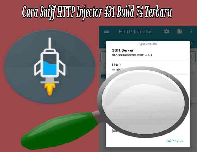 Cara Sniff / Membuka Config HTTP Injector Versi 442 Build 85 Terbaru 2019 Terbaru