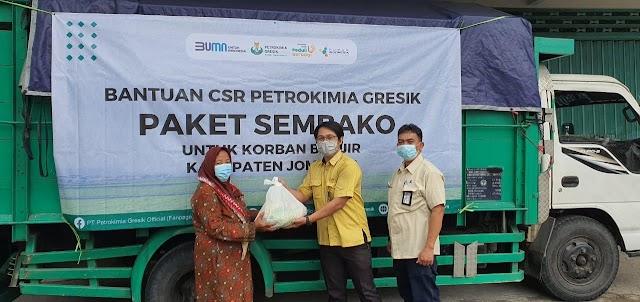 Petrokimia Gresik Kembali Salurkan 1.000 Paket Sembako bagi Korban Banjir