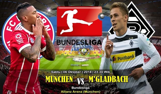 Prediksi Bayern Munchen VS B. Monchengladbach 6 Oktober 2018