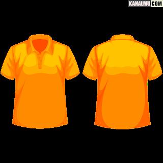 mentahan kaos polos orange kunyit polo PNG - kanalmu