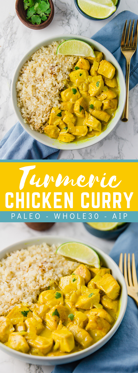 Turmeric Chicken Curry (Paleo, Whole30, AIP) #healthy #diet