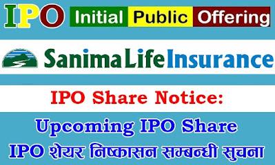 Upcoming IPO Share - Sanima Life Insurance