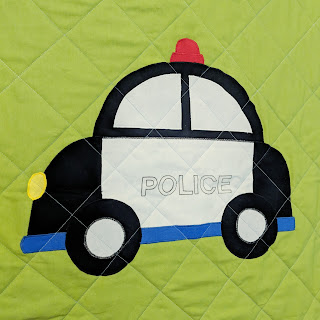 quilted applique police car