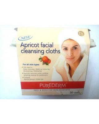 فوط لتنظيف الوجه بالمشمش appricot facial cleansing cloths