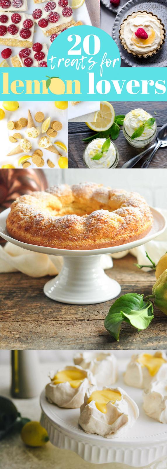Homemade Lemon Recipes (Cakes, Cookies, Desserts Galore!)