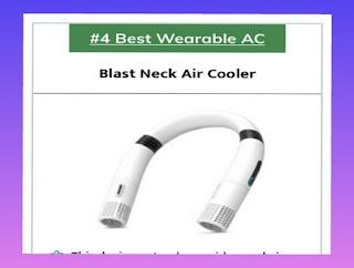 AC wearable terbaik, pendingin udara Blast Neck untuk dipasang di area leher manusia