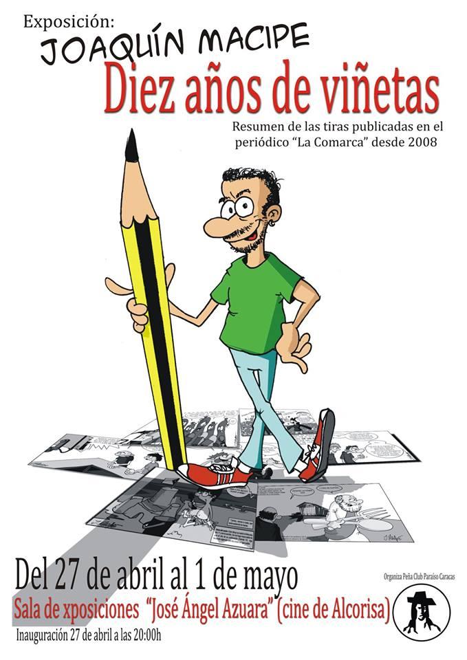 Diez años de viñetas de Joaquín Macipe