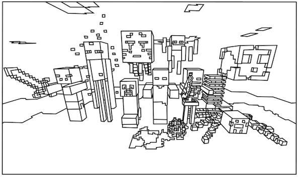 Maternar Para Sempre Desenhos De Minecraft Para Colorir E Imprimir