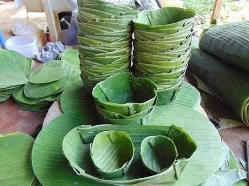 Reduce Plastic using Banana Leaves