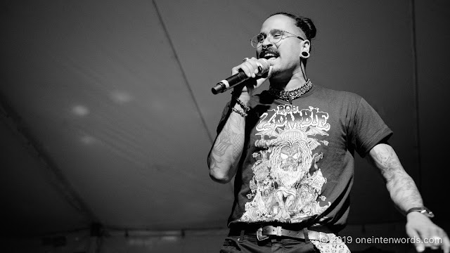Snotty Nose Rez Kids at Hillside Festival on Friday, July 12, 2019 Photo by John Ordean at One In Ten Words oneintenwords.com toronto indie alternative live music blog concert photography pictures photos nikon d750 camera yyz photographer