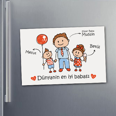 Baba Sevgisi Buzdolabı Magnet