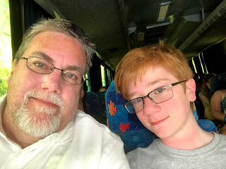 David Brodosi and family traveling by bus around Cozumel