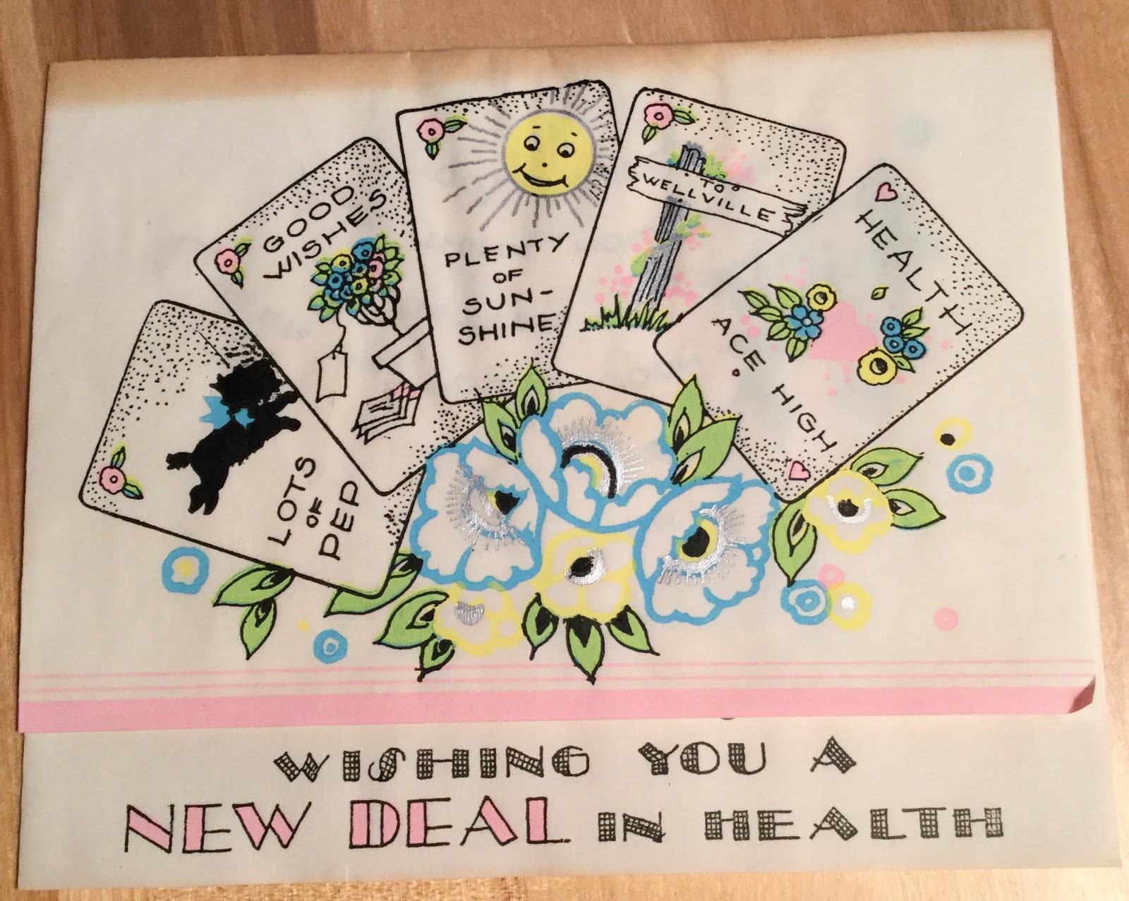 The Literate Quilter Vintage Get Well Greeting Cards