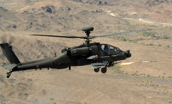 Peluncuran DAGR dari Apache