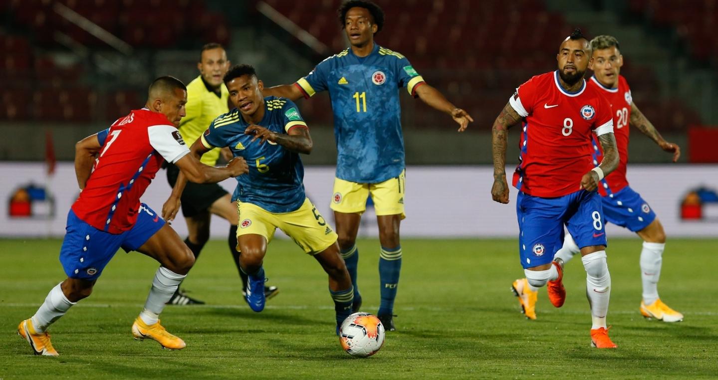 Chile y Colombia en Clasificatorias a Catar 2022, 13 de octubre de 2020