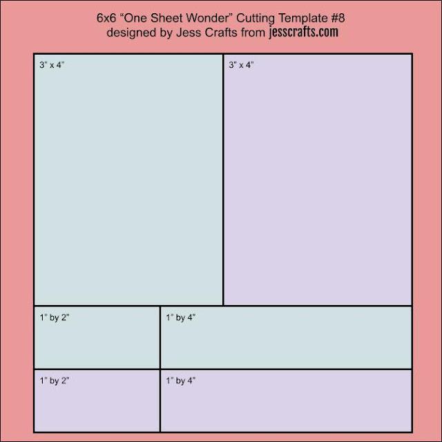One Sheet Wonder Template #8 by Jess Crafts