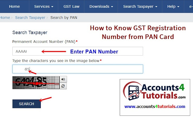 check your gst registration number from pan