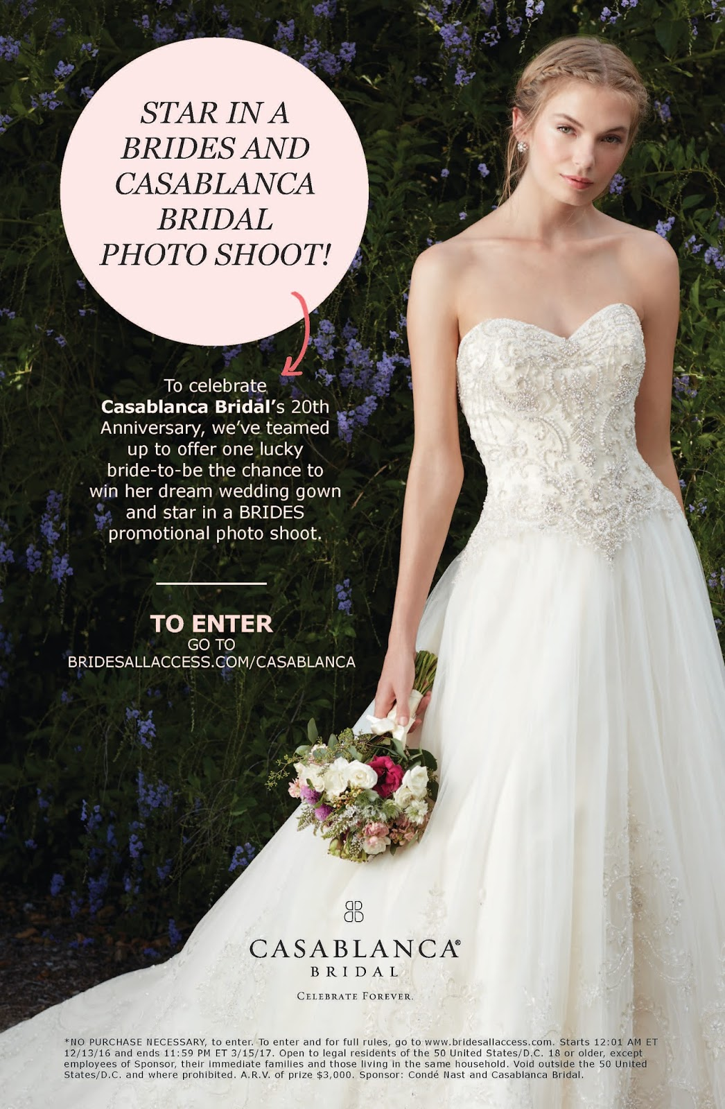 Savvy Deets Bridal: Giveaway!! BRIDES x Casablanca Bridal: Enter to win!
