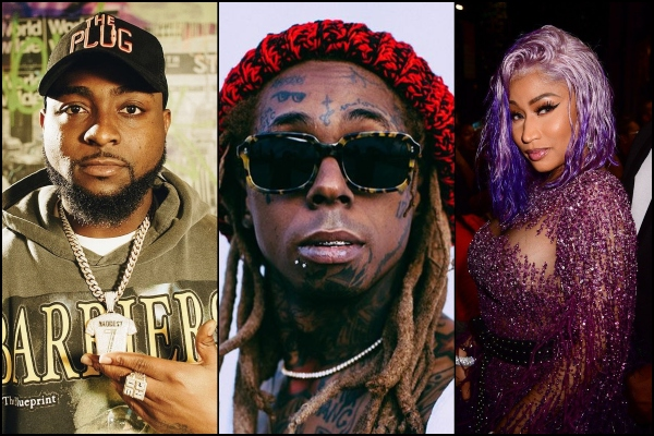 Lil Wayne confirms Davido collaboration with Nicki Minaj