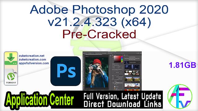 Adobe Photoshop 2020 v21.2.4.323 (x64) Pre-Cracked