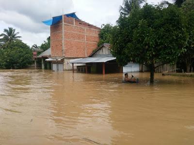 Desa Teluk Lancang Dikepung Banjir, 40 Rumah Terendam