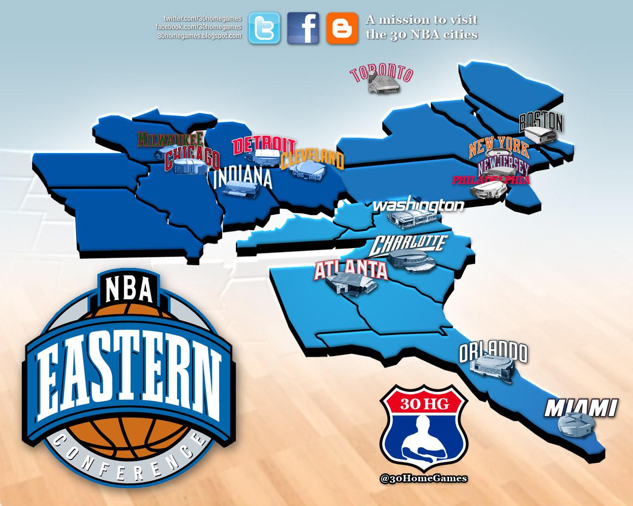 30 Home Games: NBA Graphics: 30 Home Games logo and Wallpaper