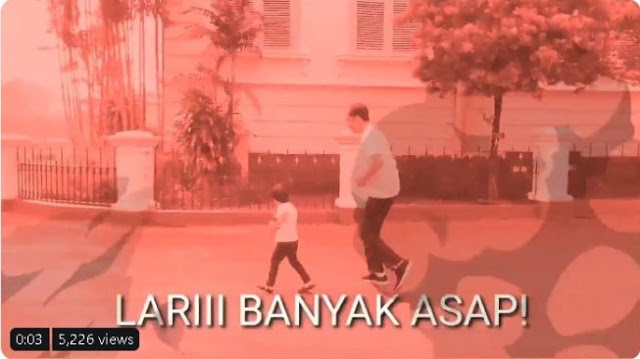 Sindir Karhutla Jambi, Video Jokowi dan Jan Ethes Diedit Jadi Merah
