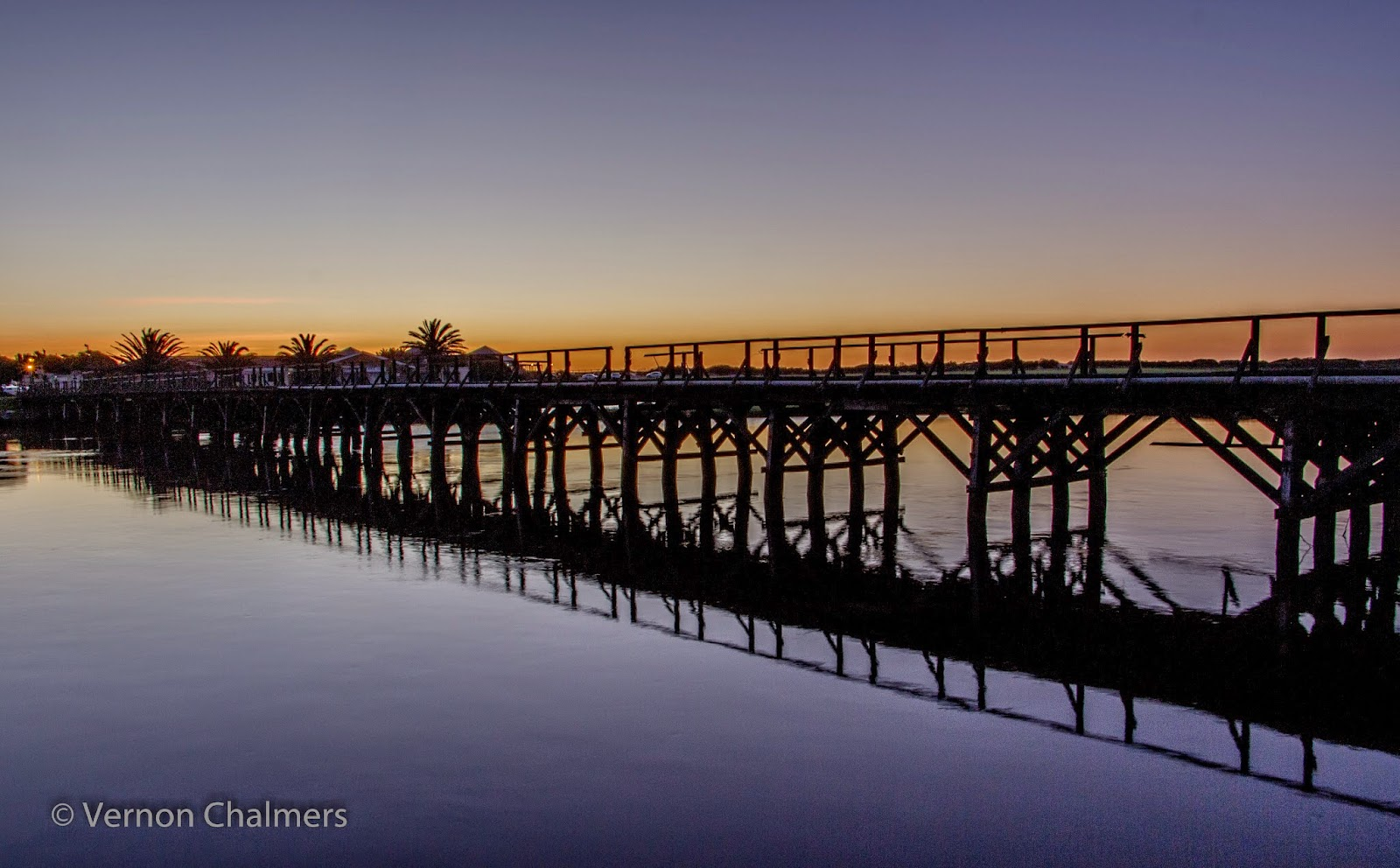 Copyright Vernon Chalmers: Wooden Bridge towards Woodbridge Island