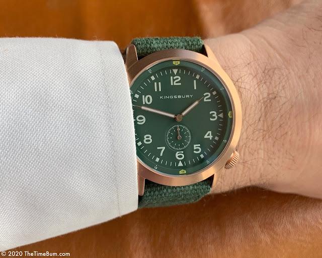 Kingsbury MS2 Platoon green wrist shot