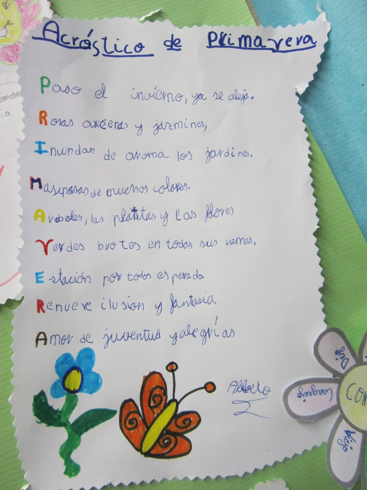 Excelente Plantilla De Poema Acróstico Imprimible Friso - Ejemplo De ...