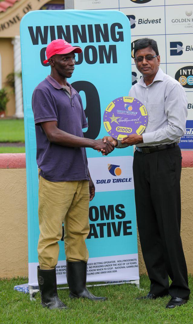 Grooms Initiative Winner - 22nd December 2019 - Race 1 - Vuyani Gwalase - PRINCEKRESH