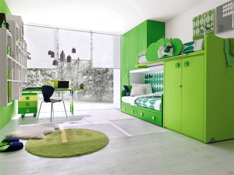Green Kids Bedroom Color Ideas