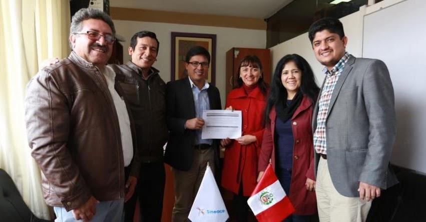 SINEACE firma convenio con Cajamarca para impulsar procesos de acreditación y certificación - www.sineace.gob.pe