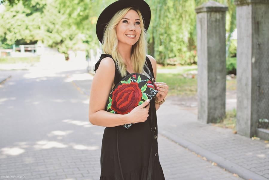 breloki, czasnabuty.pl, Dedicante, kapelusz, moda, peeptoe, sandały, sukienka, sukienkowo, totalblack,