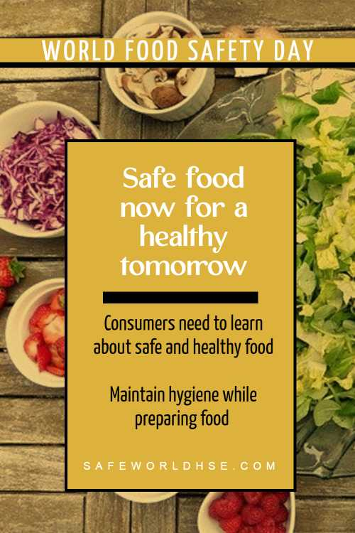 World Food Safety Day history, Safe food now for a healthy tomorrow theme, slogans, quotes, poster, how to observe
