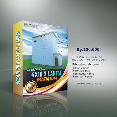 Desain Bangunan Walet 4x10 3 Type B Lantai Premium