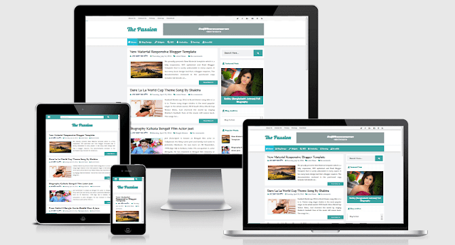 Passion - Highly Responsive and SEO Friendly Blogger Template