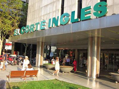 El Corte Inglés shopping mall in Barcelona