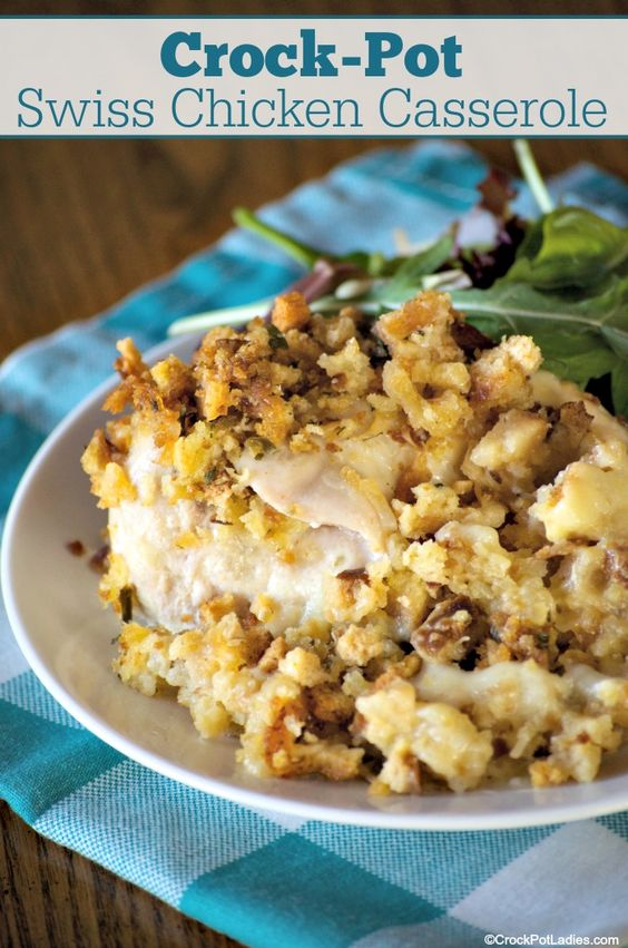 Crock-Pot Swiss Chicken Casserole Recipe