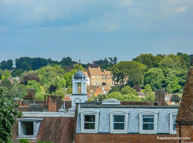 Winchester vista do terraço de observação do Westgate