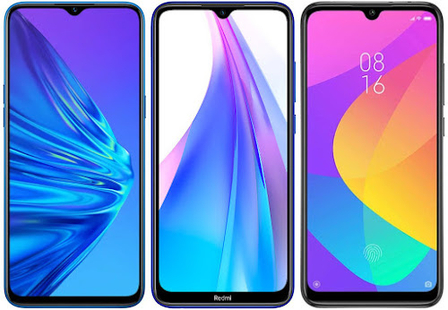 Realme 5 128 GB vs Redmi Note 8T 64 GB vs Xiaomi Mi A3 128 GB