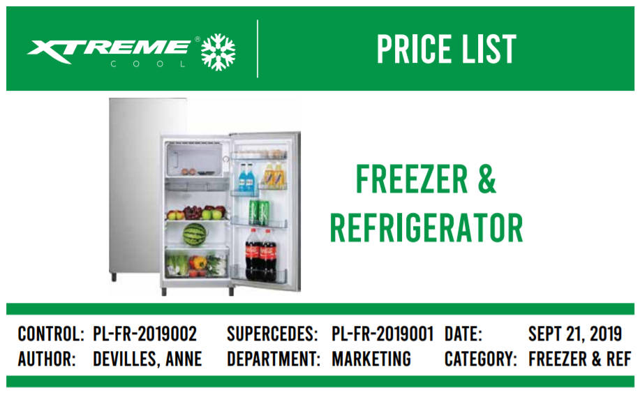 Xtreme Freezer Refrigerator