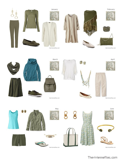 12 Months, 12 Outfits in 6 Capsule Wardrobes - a Half-Way Through Bonus