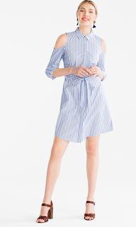 robe chemise c&a rayé