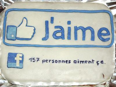 Gâteau J'aime Facebook